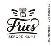fries before guys feminine... | Shutterstock .eps vector #1095080882