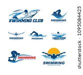 Set Of Swimming Logo Designs...