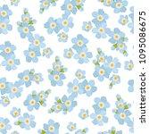 myosotis forget me not floral... | Shutterstock .eps vector #1095086675