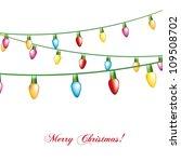 christmas lights isolated over... | Shutterstock .eps vector #109508702