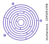 simple round maze labyrinth... | Shutterstock .eps vector #1095091598
