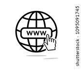 internet icon. world net... | Shutterstock .eps vector #1095091745