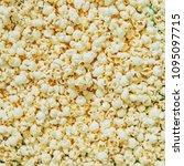 caramel popcorn texture pattern.... | Shutterstock . vector #1095097715