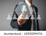 hand touch virtual icon of... | Shutterstock . vector #1095099476