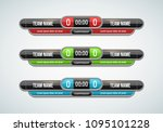 sport scoreboard with time and... | Shutterstock .eps vector #1095101228