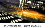 plasma cutting of metal | Shutterstock . vector #1095102188