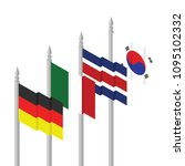germany mexico costa rica south ... | Shutterstock .eps vector #1095102332