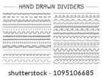 33 hand drawn dividers ... | Shutterstock .eps vector #1095106685