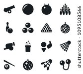 set of simple vector isolated... | Shutterstock .eps vector #1095108566