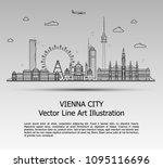 line art vector illustration of ... | Shutterstock .eps vector #1095116696