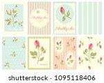 set of vintage banner  flyer ... | Shutterstock .eps vector #1095118406