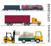 set of overland freight... | Shutterstock .eps vector #1095118688