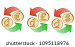 exchange vietnamese dong to... | Shutterstock .eps vector #1095118976