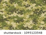 camouflage seamless pattern.... | Shutterstock .eps vector #1095123548
