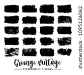 set of black brush stroke and... | Shutterstock .eps vector #1095126062