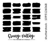 set of black brush stroke and...   Shutterstock .eps vector #1095126068