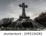 the rood on the summit of a... | Shutterstock . vector #1095134282