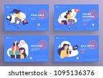 presentation slide templates or ...   Shutterstock .eps vector #1095136376