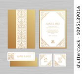 luxury wedding invitation or...   Shutterstock .eps vector #1095139016