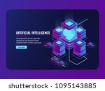 artificial intelligence concept ... | Shutterstock .eps vector #1095143885