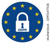 gdpr   general data protection... | Shutterstock .eps vector #1095147518