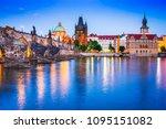 prague  czech republic. charles ... | Shutterstock . vector #1095151082