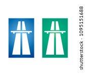 highway traffic sign   Shutterstock .eps vector #1095151688