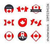 canada flag  logo design... | Shutterstock .eps vector #1095154136