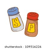 Salt And Pepper In Doodle Style
