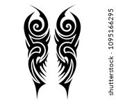 tattoo art tribal vector design ... | Shutterstock .eps vector #1095166295