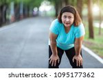 exercise and healthy concept  ... | Shutterstock . vector #1095177362