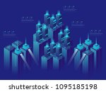 server room  concept  isometric ... | Shutterstock .eps vector #1095185198
