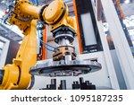robotic arm production lines... | Shutterstock . vector #1095187235