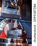 metalworking cnc milling... | Shutterstock . vector #1095187286