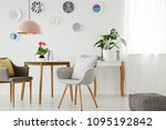retro armchairs  table ... | Shutterstock . vector #1095192842
