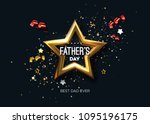 happy fathers day. vector... | Shutterstock .eps vector #1095196175