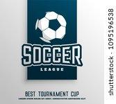 soccer football tournament... | Shutterstock .eps vector #1095196538