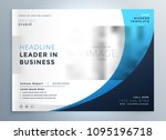 professional blue business... | Shutterstock .eps vector #1095196718