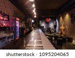 modern jazz bar interior design ... | Shutterstock . vector #1095204065