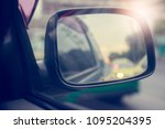 side rear view mirror on a... | Shutterstock . vector #1095204395