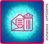 email delete vector line icon.... | Shutterstock .eps vector #1095204596