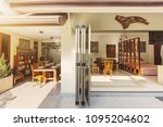 big open dining room with... | Shutterstock . vector #1095204602
