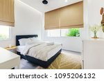 modern bed room interior in... | Shutterstock . vector #1095206132
