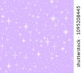 white shiny stars on lilac ... | Shutterstock .eps vector #1095208445