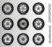 car wheels icons detailed photo ... | Shutterstock .eps vector #1095209252