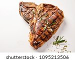 a succulent  grilled t bone... | Shutterstock . vector #1095213506