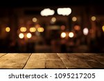 image of wooden table in front... | Shutterstock . vector #1095217205