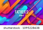 happy fathers day. vector... | Shutterstock .eps vector #1095228638