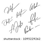 manual signature for documents... | Shutterstock .eps vector #1095229262