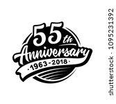 55 years anniversary design...   Shutterstock .eps vector #1095231392